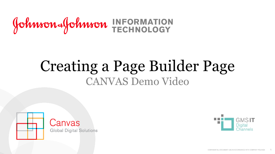 Creating a Page Builder Page
