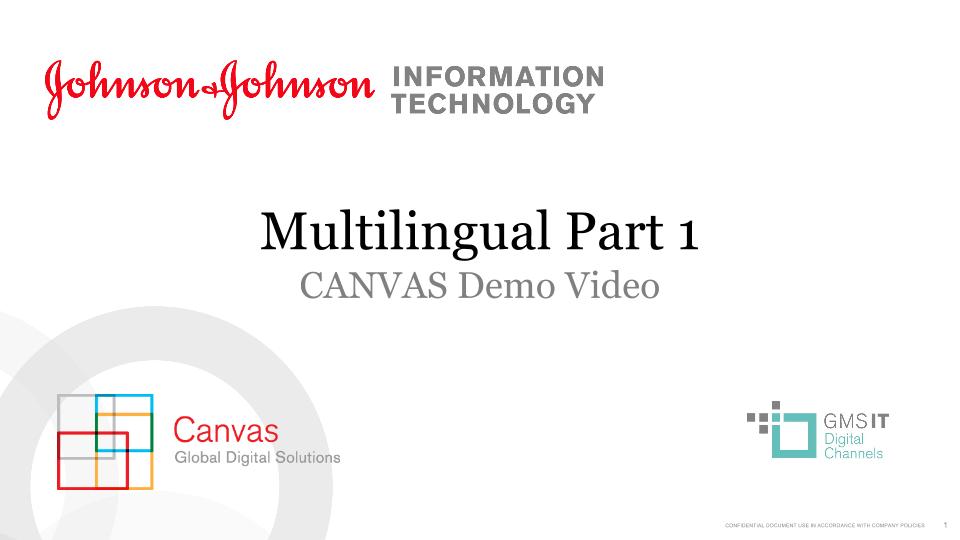 Multilingual Part 1