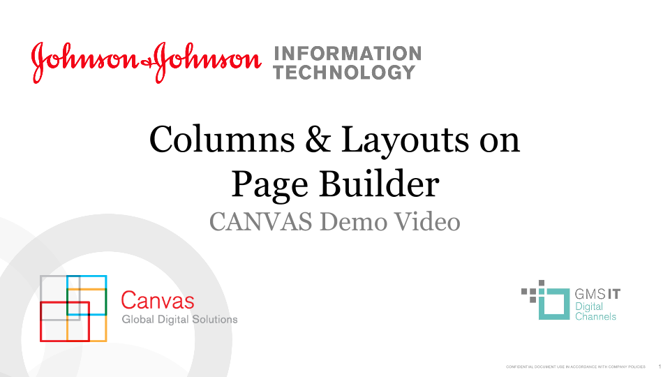 Columns & Layouts on Page Builder