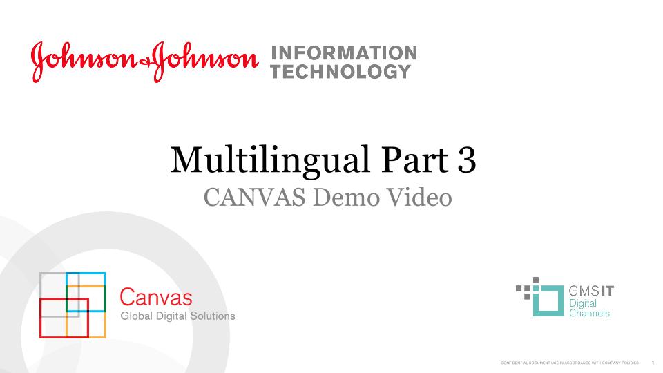 Multilingual Part 3