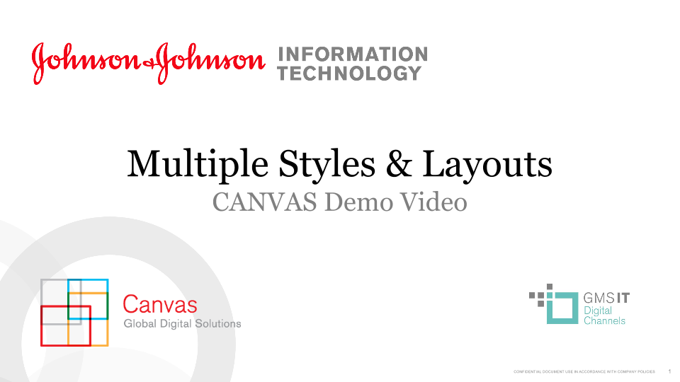 Multiple Styles & Layouts