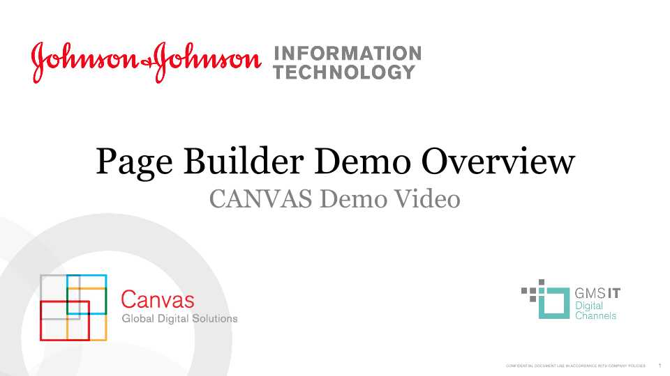 Page Builder Demo Overview