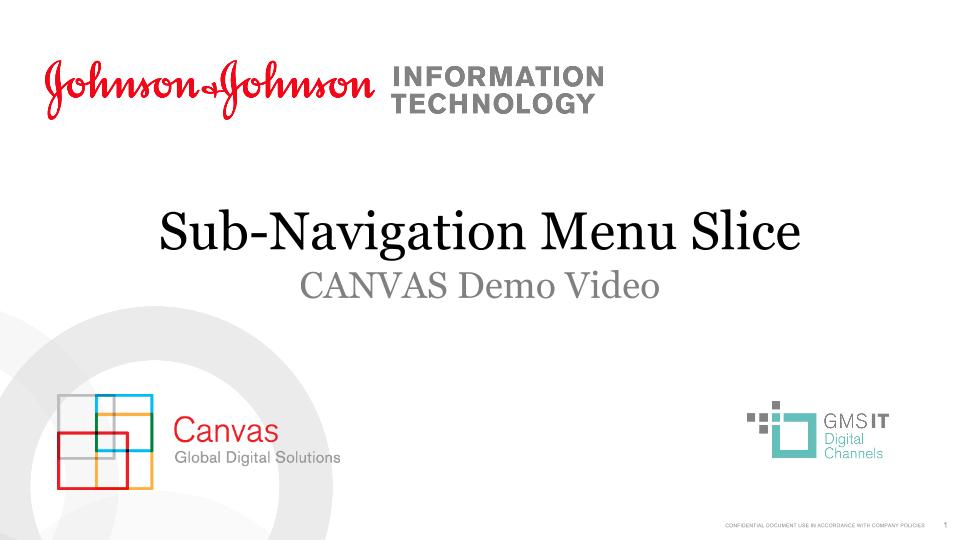 Sub-Navigation Slice